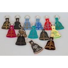 Брелок 2-х слойный с тиснением  молитв и символов в ассортименте (колокольчик 65х50 мм) - (упаковка - 10 шт (в ассортименте) или 10 шт (одного вида))